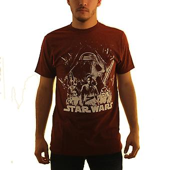 Star Wars The Force ontwaakt rode T-shirt voor mannen