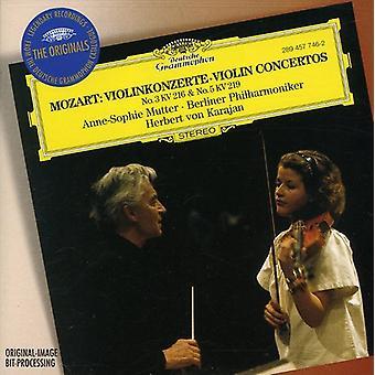 W.a. Mozart - Mozart: Violin Concertos Nos. 3 & 5 [CD] USA import