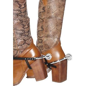 Sporen cowboy Spurs Western cowboy kostuum anschnallbar