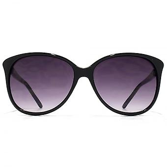 Carvela Chain Detail Soft Cateye Sunglasses In Black