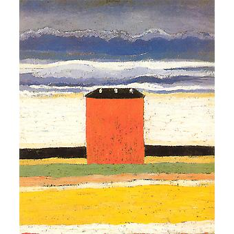 Kasimir Malevich - Red House 1932 plakat Print Giclee