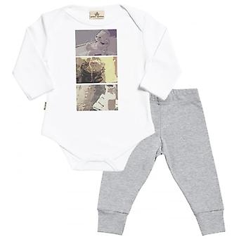 Spoilt Rotten Baby Squares Baby T-Shirt & Baby Jersey Trousers Outfit Set