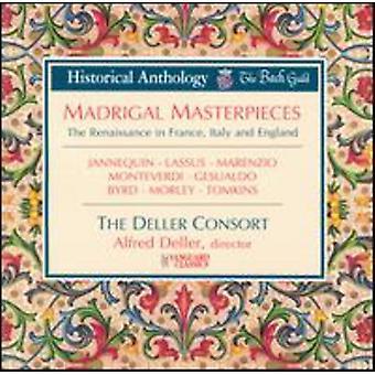 Deller Consort - Madrigal mesterværker [CD] USA importerer