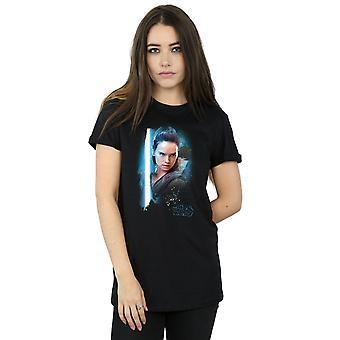 Star Wars Women's The Last Jedi Rey Brushed Boyfriend Fit T-Shirt