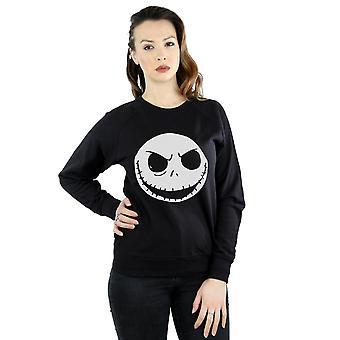 Disney Frauen Nightmare Before Christmas Jack Skellington Gesicht Sweatshirt