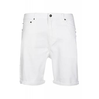 JUNK YARD Ralf tapered shorts men's leisure shorts white 5-Pocket
