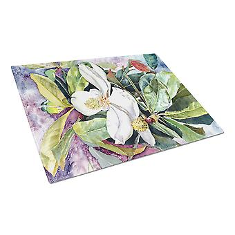 Carolines Treasures  8700LCB Magnolia Glass Cutting Board Large