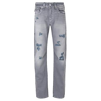 True Religion Geno med lock slitna Tin Jeans