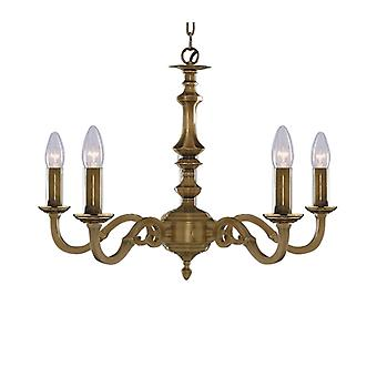 Searchlight 1075-5NG Malaga 5 Light Ceiling Fitting