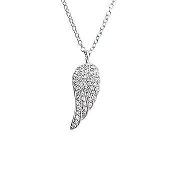 Flügel - jeweled 925 Sterling Silber Ketten - W19467X