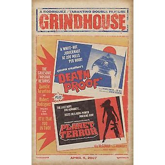 Grindhouse - Dual Death ProofPlaner Terror Poster Poster Print