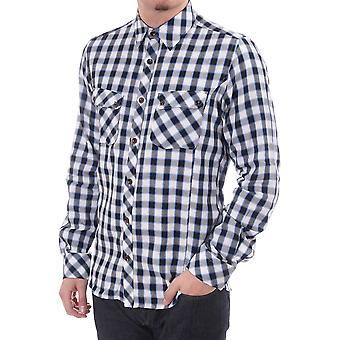 Ted Baker Mens Mens Ls Check Tapered Shirt