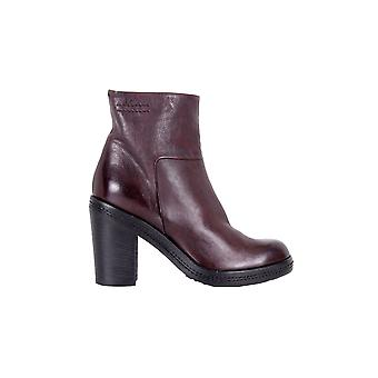 P ladies 8746BURGUNDY Burgundy leather ankle boots