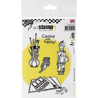 Carabelle Studio Cling Stamp A6 By Azoline-Zinouk Fairy Of Colors SA60337E