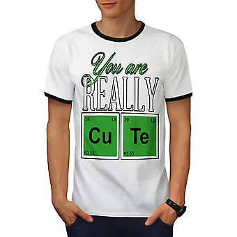 Cute Chemistry Geek Men White / BlackRinger T-shirt | Wellcoda