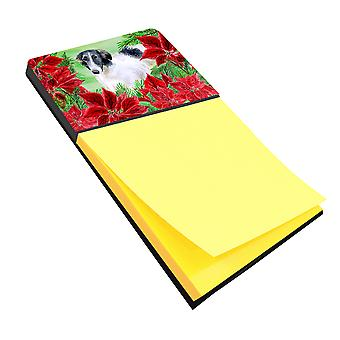 Carolines Treasures  CK1320SN Borzoi Poinsettas Sticky Note Holder