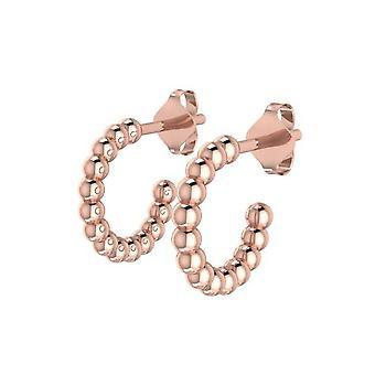 Gold polka dot earrings
