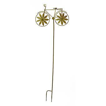 Retro metallo bicicletta vento Spinner Garden Stake