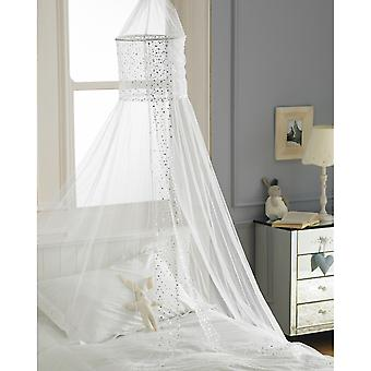 Country Club Bed Canopy, Popsicle White