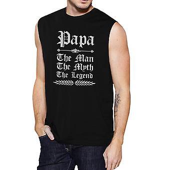 Vintage gothique Papa Mens Black Muscle branché Cool T-Shirt meilleur cadeau