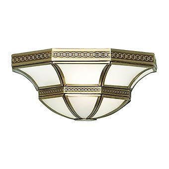 Interiors 1900 Balfour Single Light Wall Fitting In Antique Bras