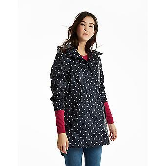 Joules Womens/dames Golightly afgedrukt waterdichte Packaway jas jas