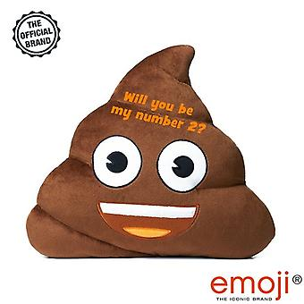 'Will you be my number 2?' Poo emoji(r) Brand Cushion
