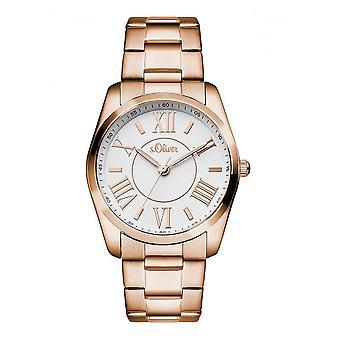 s. Oliver orologio donna orologio SO-3087-MQ Rosato oro