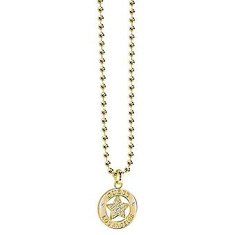 Guess ladies chain necklace stainless steel gold UBN21600