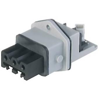 Mains connector STAKEI Series (mains connectors) STAKEI Socket, vertical vertical Total number of pins: 3 + PE 16 A Grey Hirschmann STAKEI 3 N 1 pc(s)