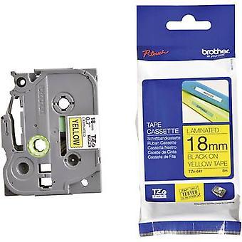 Labelling tape Brother TZe, TZ TZe-641 Tape colour: Yellow Font colour:Black 18 mm 8 m