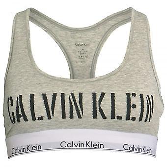 Calvin Klein kvinner Calvin Klein kvinner moderne bomull Bralette, sjablong Logo / lyng grå, store