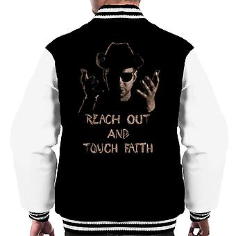 Reach Out And Touch Faith Men's Varsity Jacket