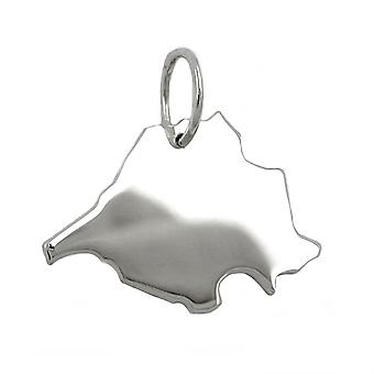 Trailer map SAARLAND SL beads in solid 925 sterling silver
