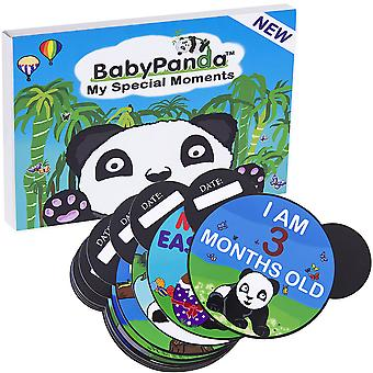 BabyPanda My Special Moments Baby Card Set. 30 First Year Milestones