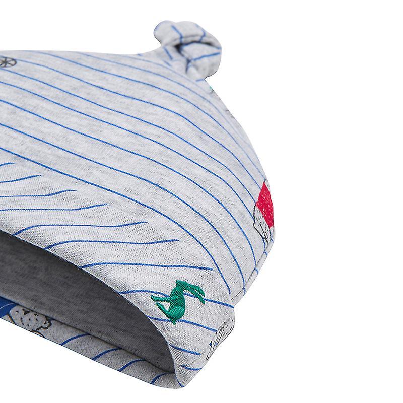 Joules Baby Koo G Single Knot Hat Grey Bear Stripe