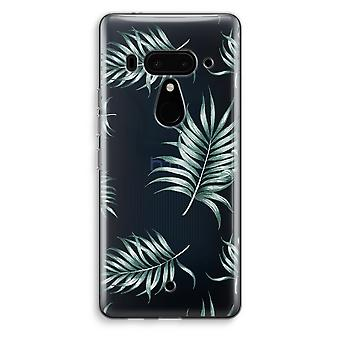 HTC U12+ Transparent Case (Soft) - Simple leaves