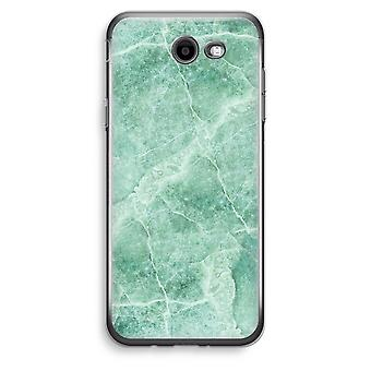 Samsung Galaxy J3 Prime (2017) Transparent Case (Soft) - Green marble