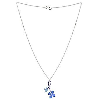 Ti2 Titanium 30mm dobbelt Drop fire Petal blomst vedhæng - blå