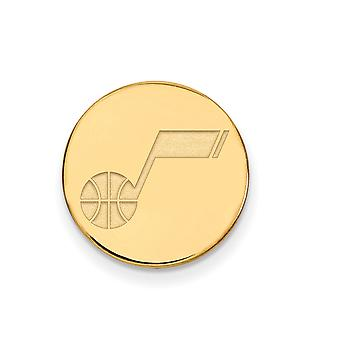 NBA Utah Jazz 14k Yellow Gold Plated Sterling Silver Lapel Pin