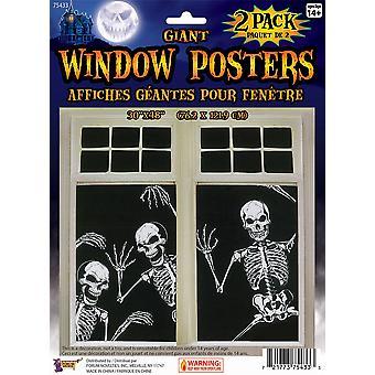 Skeleton Window Poster