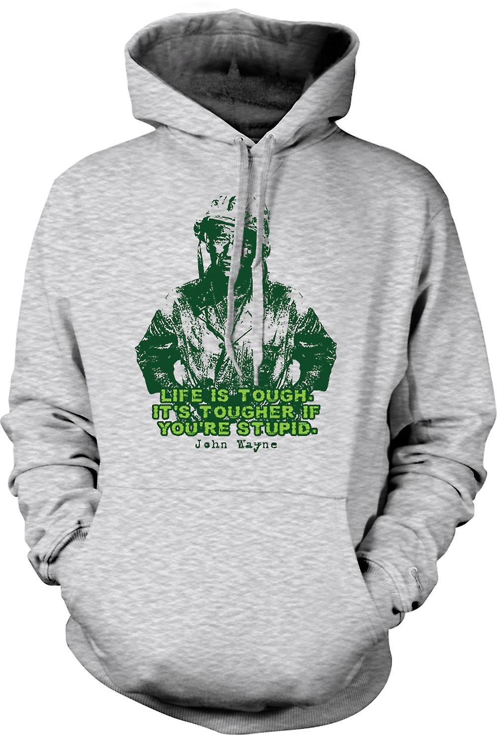 Mens Hoodie - John Wayne - grön basker - WW2