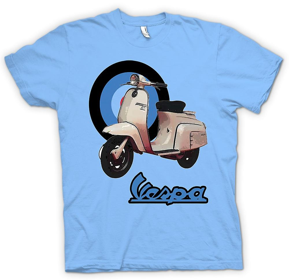 Mens T-shirt - Vespa - British Flag - Mod - Scooter