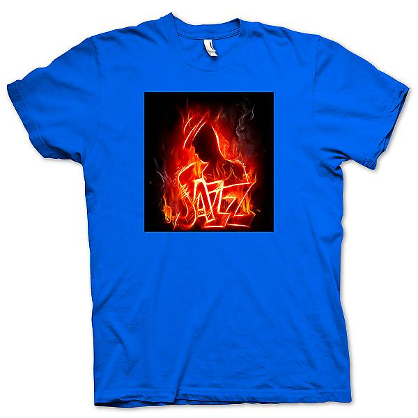 Mens t-skjorte-Neon Jazz Design