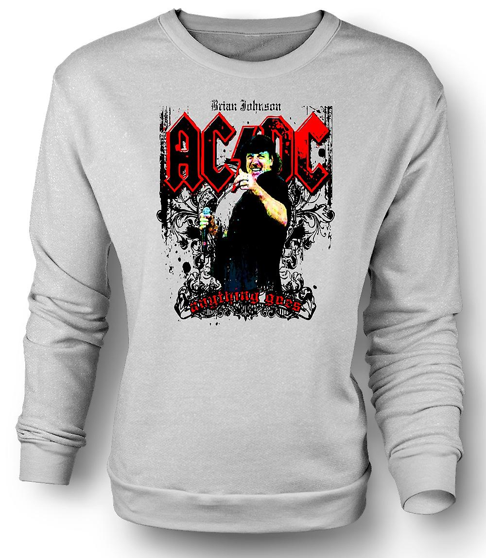 Mens Sweatshirt AC/DC - Brian Johnson