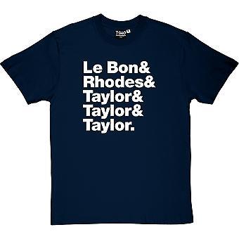 Duran Duran Line-Up Men's T-Shirt