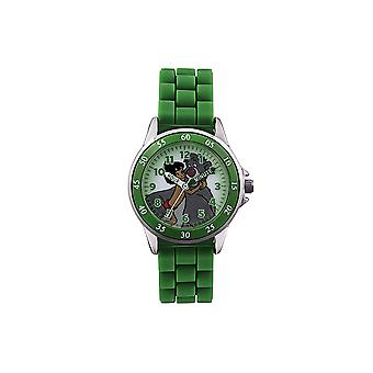 Disney Jungle Book Kids-Childrens Picture Dial Green Rubber Strap Watch JBK3007