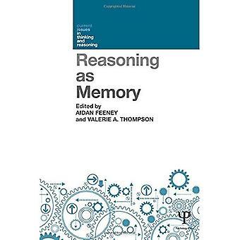 Raisonnement en tant que mémoire (questions d'actualité dans la pensée et de raisonnement)