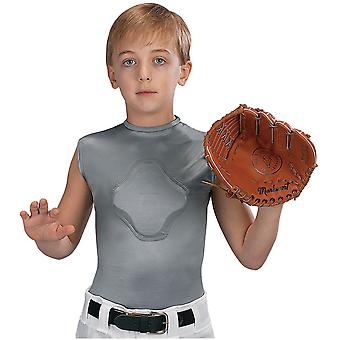 Markwort Youth Heart-Gard Protective Compression Body Shirt - Gray