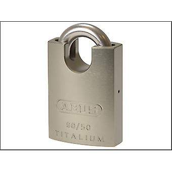 90RK/50 TITALIUM PADLOCK CLOSE STAINLESS STEEL  SHACKLE CARDED